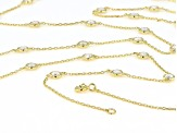 White Cubic Zirconia 18k Yellow Gold Over Sterling Silver Necklace 14.17ctw