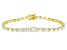 White Cubic Zirconia 18K Yellow Gold Over Sterling Silver Tennis Bracelet 13.62ctw