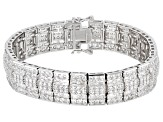 White Cubic Zirconia Rhodium Over Sterling Silver Bracelet 30.77ctw
