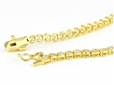 White Cubic Zirconia 18K Yellow Gold Over Sterling Silver Bracelet 6.04ctw