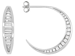 White Cubic Zirconia Rhodium Over Sterling Silver Earrings 2.19ctw