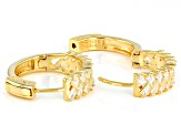 White Cubic Zirconia 18K Yellow Gold Over Sterling Silver Hoop Earrings 2.62ctw