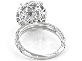White Cubic Zirconia Rhodium Over Sterling Silver Ring 10.32ctw