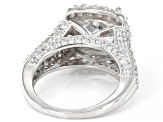 White Cubic Zirconia Rhodium Over Sterling Silver Ring 8.68ctw