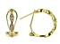 White Cubic Zirconia 18k Yellow Gold Over Sterling Silver Earrings 0.67ctw