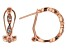 White Cubic Zirconia 18k Rose Gold Over Sterling Silver Earrings 0.67ctw