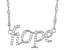 White Cubic Zirconia Rhodium Over Sterling Silver Hope Necklace 0.27ctw