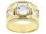 White Cubic Zirconia 18k Yellow Gold Over Sterling Silver Ring 4.77ctw