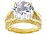 White Cubic Zirconia 18k Yellow Gold Over Sterling Silver Ring 11.08ctw