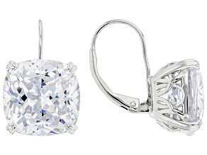 White Cubic Zirconia Rhodium Over Sterling Silver Earrings 20.70ctw