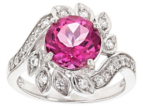Pure Pink™ Topaz Sterling Silver Ring 3.02ctw