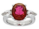 Pink,  Peony™ Mystic Topaz® Sterling Silver Ring 4.31ctw