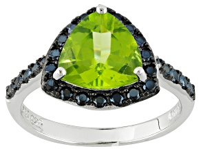 Green Peridot Sterling Silver Ring 2.41ctw
