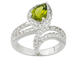 Green Peridot Sterling Silver Ring 1.82ctw