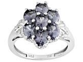 Platinum Color Spinel Rhodium Over Silver Ring 2.19ctw