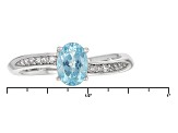 Blue Paraiba Color Apatite Sterling Silver Ring .77ctw