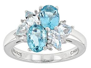 Blue Paraiba Apatite Sterling Silver Ring 1.78ctw