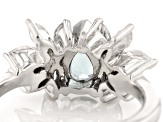 Blue Apatite Sterling Silver Ring 1.58ctw