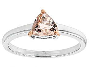Pink Morganite Sterling Silver Ring .75ct