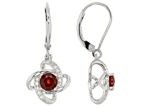 Red Garnet Sterling Silver Earrings 1.50ctw