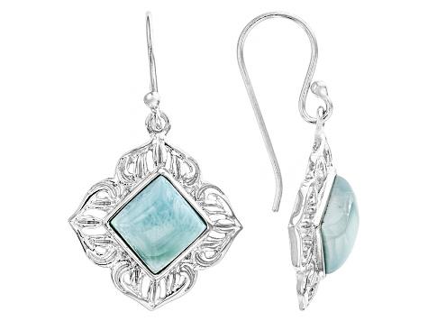 b0c560f3e Blue Larimar Sterling Silver Solitaire Earrings - BCH177 | JTV.com