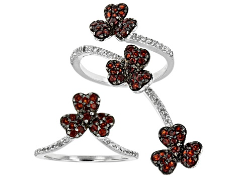 Red Garnet Sterling Silver Ring 1.57ctw