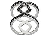 Black Spinel Silver Ring 1.32ctw