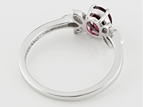 Pink Rubellite Sterling Silver Ring .63ctw