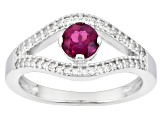 Pink Rubellite Sterling Silver Ring .51ctw