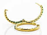 Green emerald 18k gold over silver earrings 3.78ctw