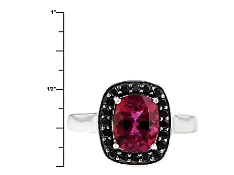 Red Lab Created Bixbite Sterling Silver Ring 1.63ctw