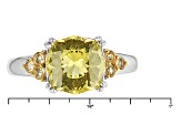 Yellow Apatite Sterling Silver Ring 2.77ctw