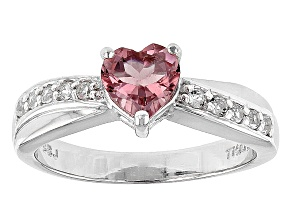 Pink Rubellite Tourmaline Sterling Silver Ring .78ctw