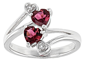 Pink Rubellite Tourmaline Sterling Silver Ring .73ctw