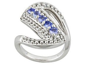 Blue Tanzanite Sterling Silver Ring 1.32ctw