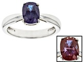 Lab Created Color Change Alexandrite Sterling Silver Ring 1.42ct