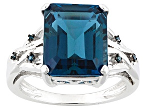 London Blue Topaz Sterling Silver Ring 6.61ctw