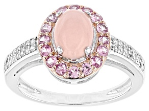 Pink Peruvian Opal Sterling Silver Ring .84ctw