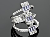 Blue Tanzanite Sterling Silver Ring 1.88ctw