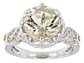 Yellow Labradorite Sterling Silver Ring 3.22ctw