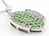Green Mint Tsavorite Garnet Sterling Silver Pendant With Chain 1.71ctw