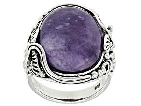 Purple/White Morado Opal Sterling Silver Ring