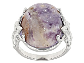 Purple/White Morado Opal Sterling Silver Ring