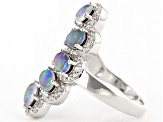 Multicolor Coober Pedy Opal Triplet Sterling Silver Ring .68ctw