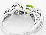 Green Peridot Sterling Silver Ring 1.33ctw