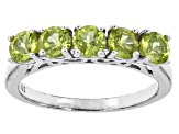 Green Peridot Sterling Silver Ring 1.50ctw