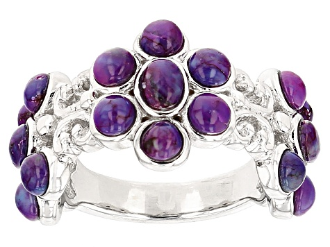 Purple Turquoise Sterling Silver Ring