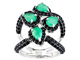 Green Emerald Sterling Silver Ring 2.73ctw