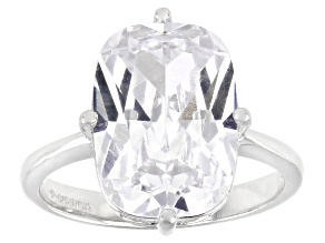 White Cubic Zirconia Platinum Over Sterling Silver Ring 9.51ctw