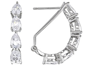White Cubic Zirconia Rhodium Over Sterling Silver Earrings 5.49ctw